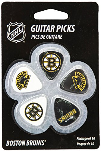 Woodrow Guitar by The Sports Vault NHL Boston Bruins Guitar Picks, 10 Pack