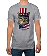 Ameowica Patriotic Cat Adult T-shirt