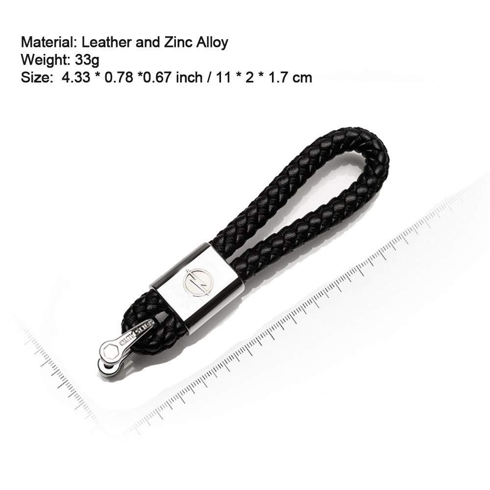 VILLSION 2Pack Nuovo Genuino Pelle Portachiavi per Mazda Auto Logo Portachiavi Accessori Chiave Fibbia Lega di Zinco