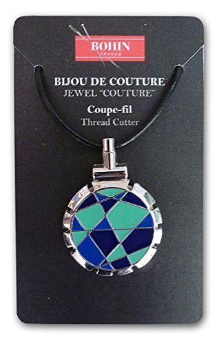 (Bohin Jewel Couture Thread Cutter Quilt Blue and Lime)
