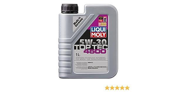 Liqui Moly 3724 Top Tec 4500 5W-30 - Aceite sintético antifricción para motores de automóviles de 4 tiempos (1 L): Amazon.es: Coche y moto