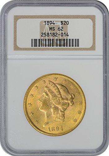 1894 Twenty Dollar Liberty Gold MS62 NGC - Ngc Ms62 Gold Coin