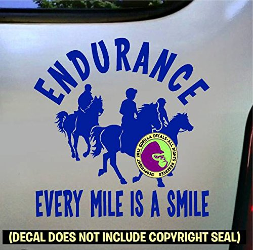 Endurance EVERY MILE IS A SMILE Vinyl Decal Sticker B