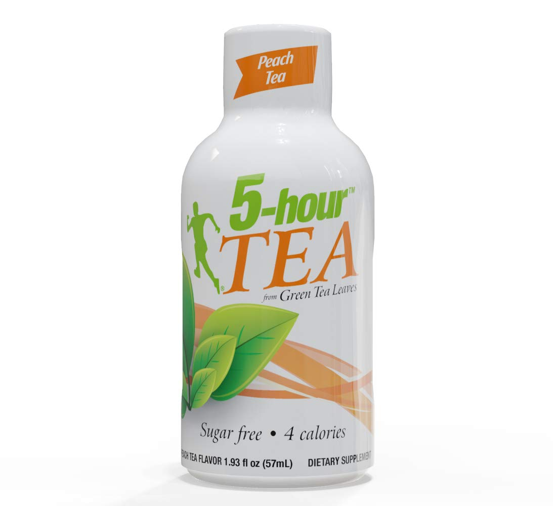 5-hour TEA, Peach Tea Flavored Energy Shots, 1.93 oz, 24 Count by 5-hour ENERGY