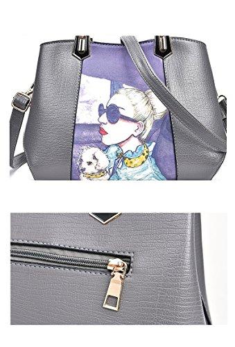de Red de pour sacs Shoulder beauté main Crossbody modèle médecin grande de capacité Designer femmes de Tote Satchel paquet Imprimé Messenger à les sac 7gqRnqC