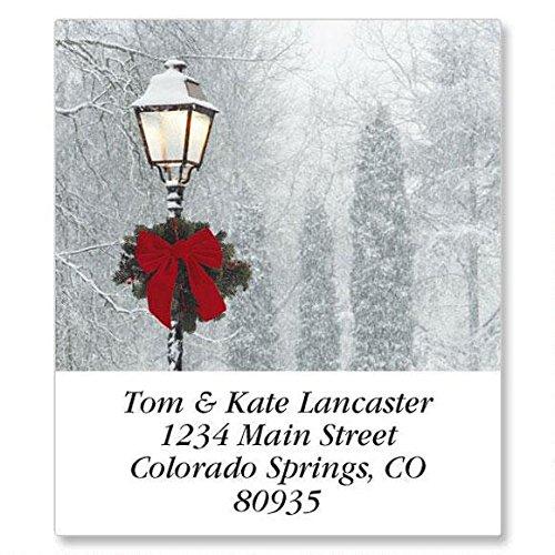 Snowy Holiday Self-Adhesive, Flat-Sheet Select Address Labels