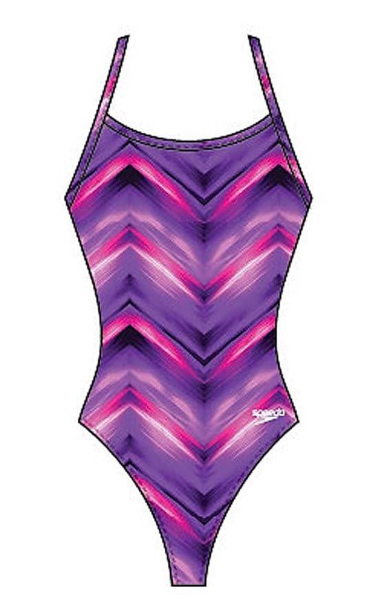 480350f773 Amazon.com: Speedo 7719001 Womens Spiral Curve Remix Flyback Swimsuit,  Speedo Purple - 30: Sports & Outdoors