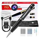 Hidden Spy Camera Pen Portable Mini Pen Cameras 1080p HD Camcorder Surveillance DVR Camera Video and Photo Quality Clear with Protected Bag and 10 Refills