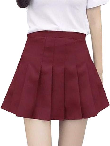 erthome - Falda de Tenis para Mujer, de Cintura Alta y Plisada ...