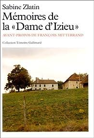 Mémoires de la 'dame d'Izieu' par Sabine Zlatin