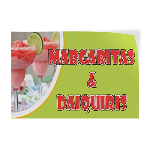 Margaritas & Daiquiris Indoor Store Sign Vinyl Decal Sticker - ()