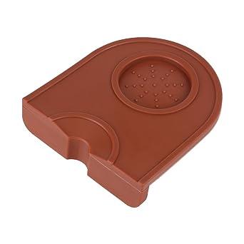 schwarz Akozon Silikon Espresso Ecke Stampfmatte Braun Anti-Rutsch-Kaffee Tamper Mat Tamp Pad Tool