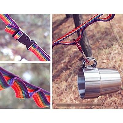 coloré extérieur Tente Camping Crochet Étendoir antidérapant Corde à linge à laver