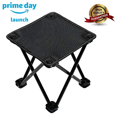 Garne T Mini Portable Folding Stool,Outdoor Folding Chair for Camping,Fishing,Travel,Hiking,Garden,Beach, Quickly-Fold Chair Oxford Cloth with Carry Bag