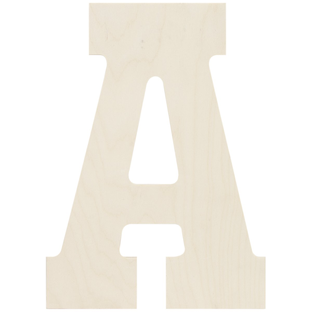 Baltic Birch Collegiate Font Letters /& Numbers 13.5-Letter A