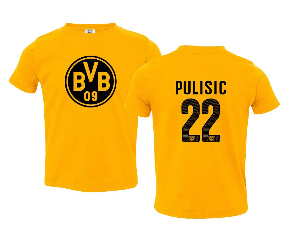Amazon.com  Spark Apparel Soccer Jersey Style Shirt  22 Pulisic Little Kids  Girls Boys Toddler T-Shirt  Sports   Outdoors 656d064e2