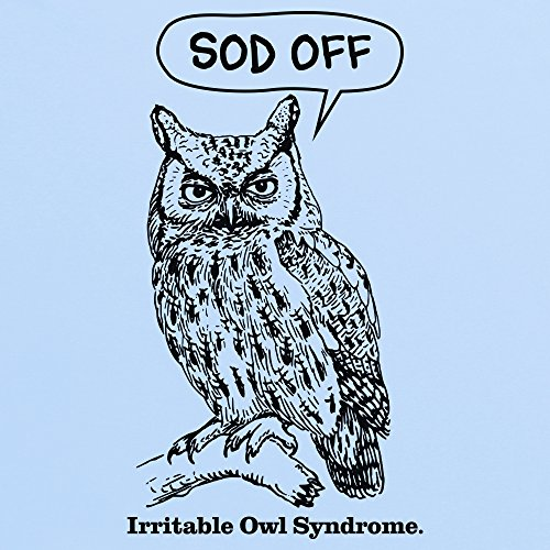 Irritable Owl Syndrome Clean T-Shirt, Damen, Himmelblau, XL: Amazon.de:  Bekleidung
