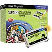 3Com 56K 10/100Mbps Dual Xjack Ethernet Global Modem Card