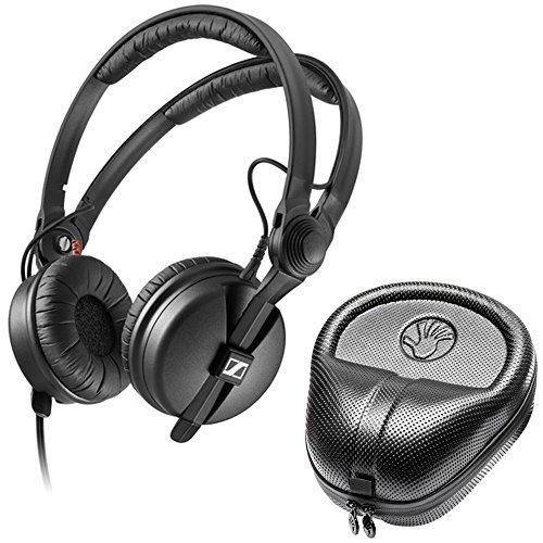 Sennheiser HD 25 Professional DJ Headphone with SLAPPA SL-HP-07 HardBody PRO Case by Sennheiser
