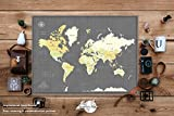 Travel Map with Pins Poster - Various Size & Color Options - Personalized world travel map