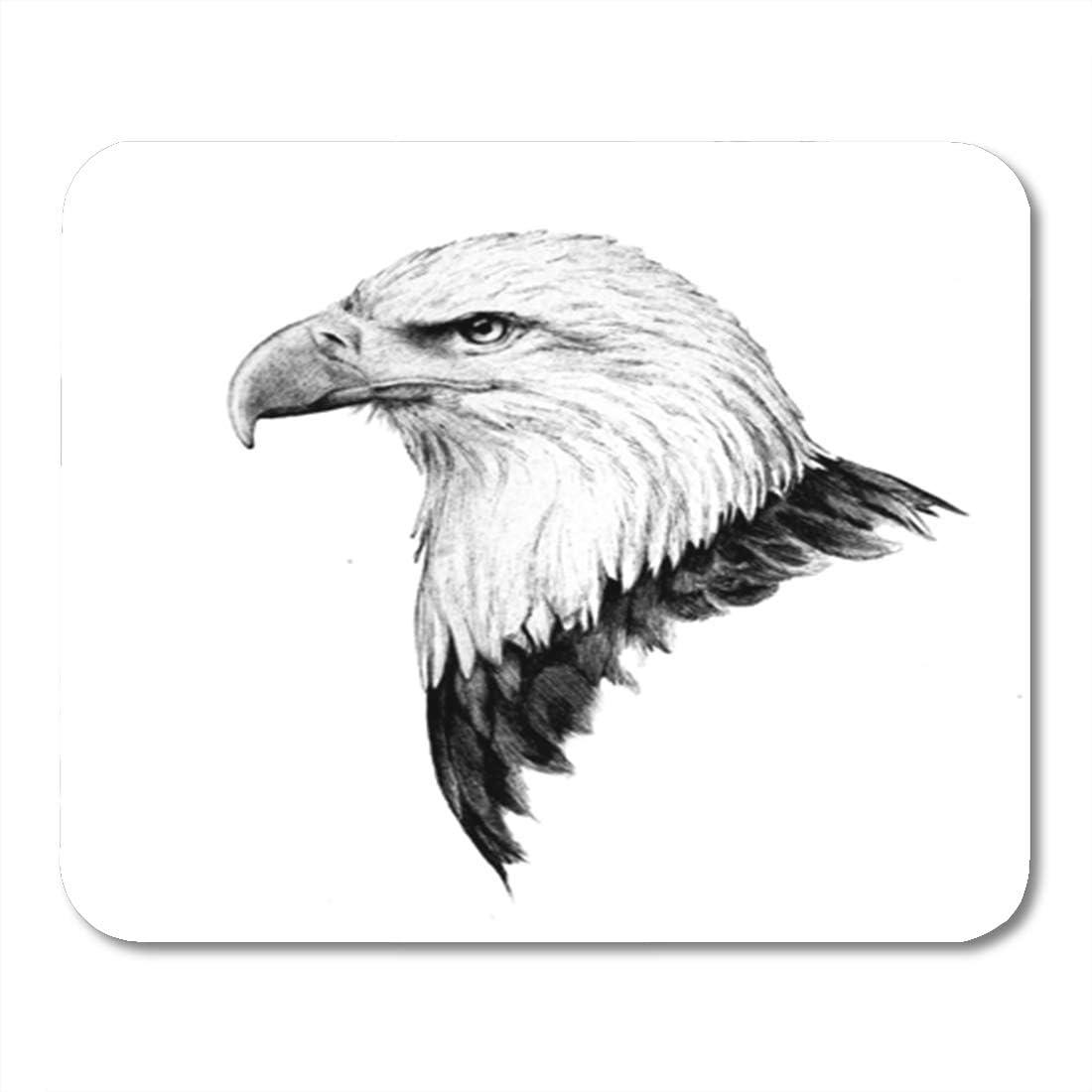Amazon.com : Semtomn Gaming Mouse Pad Bald Eagle Head Sketch in a ...