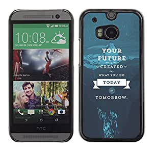 EJOY---Cubierta de la caja de protección la piel dura para el / HTC One M8 / --Tu futuro