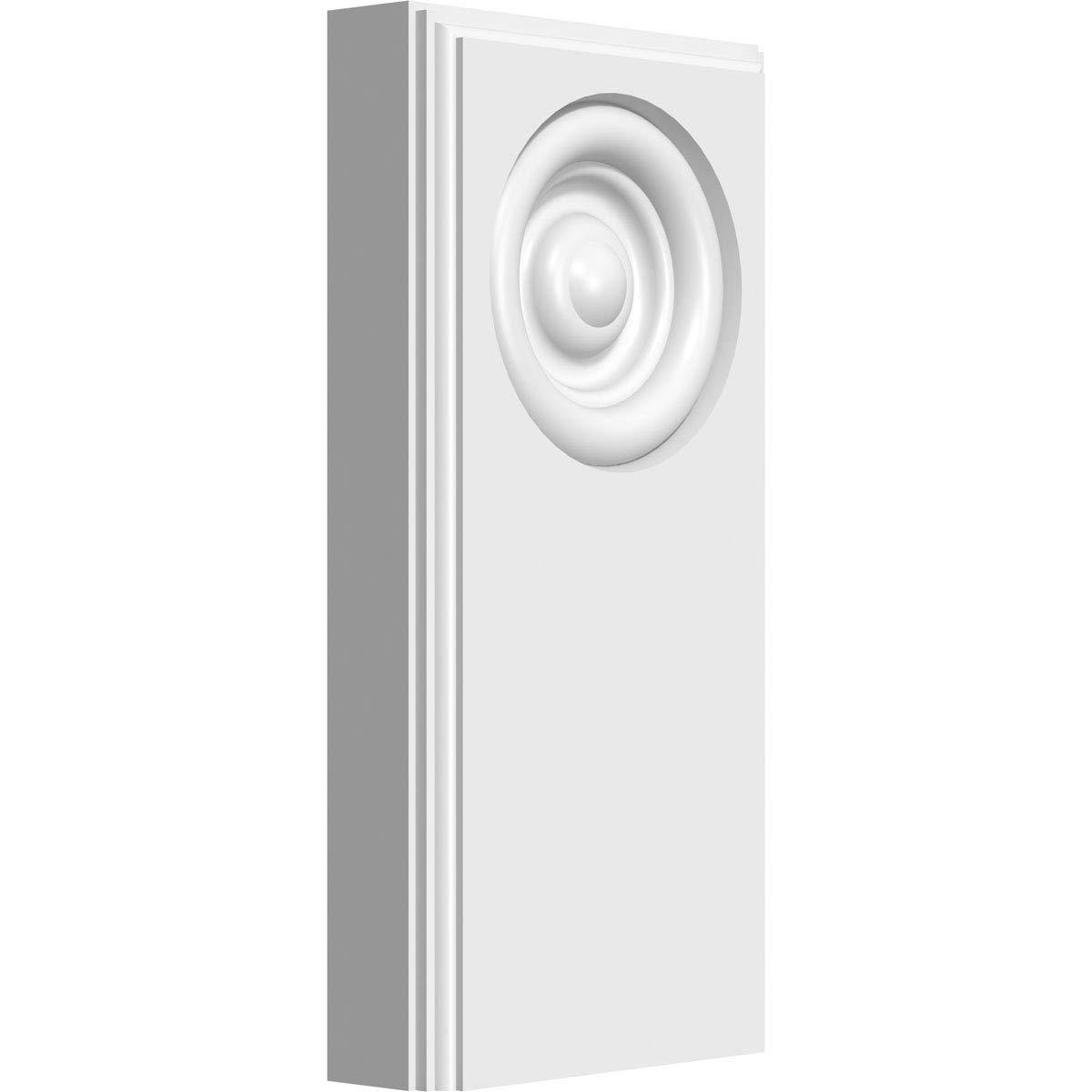 Ekena Millwork PBP050X100X050FOS03-CASE-2 Plinth Block White 5W x 10H x 1//2P