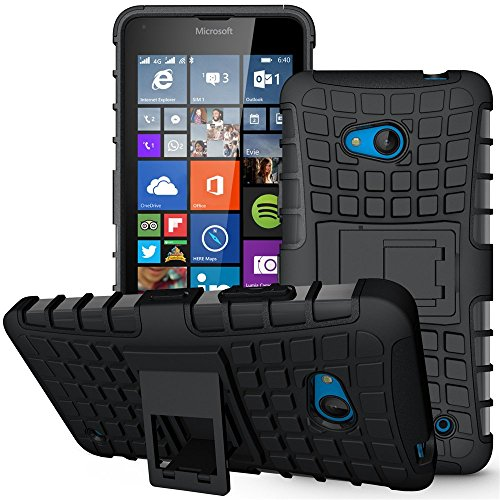 Lumia 640 Case,Nokia 640 Case, Sophmy Hybrid Dual Layer Armor Protective Case Cover with kickstand for Microsoft Lumia 640 (black)