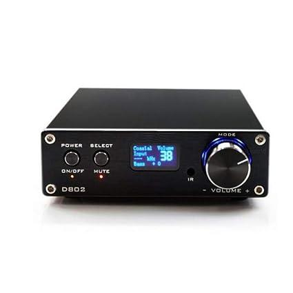 YUEC Amplificador de Potencia Remoto Digital, FX Audio D802 2x80W, Soporte inalámbrico Bluetooth 4.2