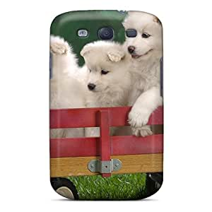 Galaxy Cover Case - Pups Waiting For The Parade Protective Case Compatibel With Galaxy S3