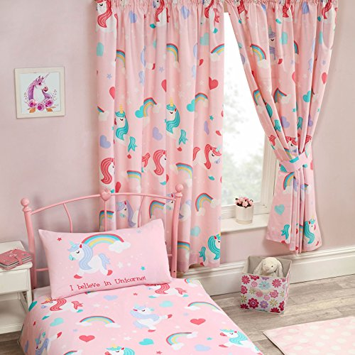 Price Right Home I Believe in Unicorns Lined Curtains 72″ Drop For Sale