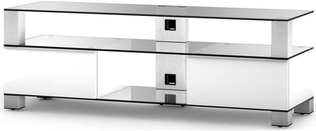 SONOROUS md9140cinxwhtff – Mueble TV Cristal/Aluminio: Amazon.es ...