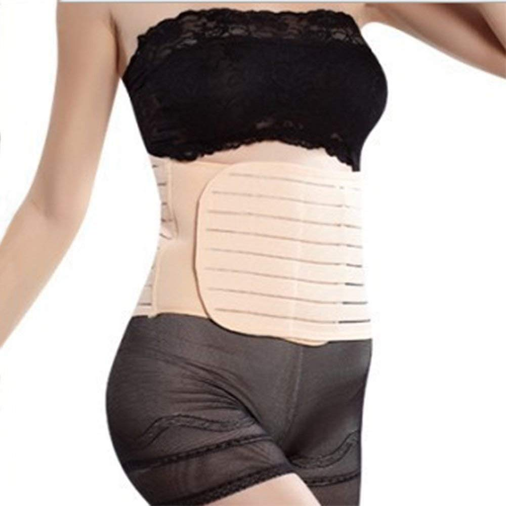 Fliyeong Breathable Postpartum Belly Belt Elastic Waist Belly Wrap Bands Womens Body Shaper Waist Bands for Body Shaper Use 1PCS