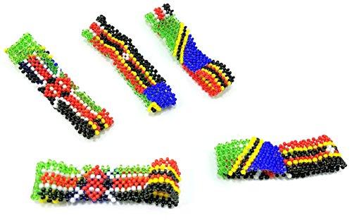 The East African Countries (Kenya, Tanzania, Uganda) Flags Bracelet