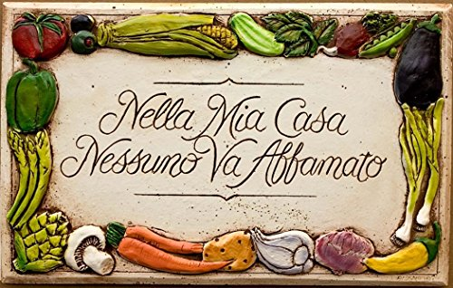Italian Kitchen decor Nella Mia Casa plaque