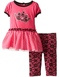 Baby-Girls Newborn 2 Piece Crown Short Sleeve Legging Set