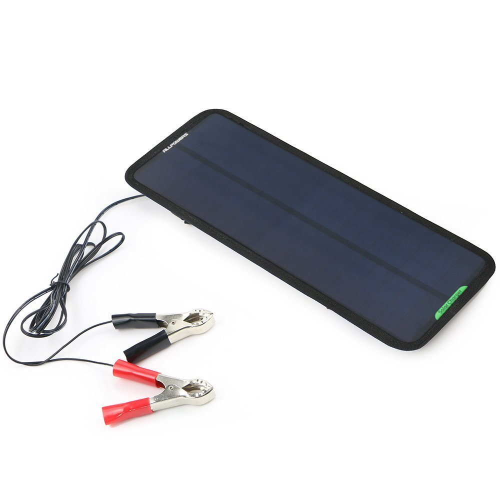 ALLPOWERS 18V 12V 7.5W Portable Solar Car Boat Power Sunpower Solar Panel Battery Charger Maintainer for Automobile Motorcycle Tractor Boat Batteries