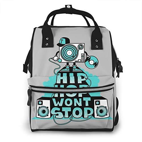 Hip Hop Diaper Bag Backpack Maternity Baby Nappy Changing Bags Shoulder Bag Organizer Multi-Function Travel Backpack