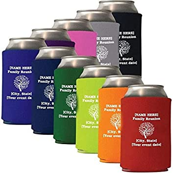 Amazon Com Family Reunion Personalized Koozies 50 Count