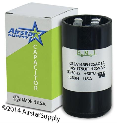 USA Motor Start Capacitor 145-174 uF MFD 110 125 VAC Replaces 11913 11013 PMJ145 PMJ145A