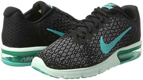 2 Black Sequent NIKE NIKE Womens Max Womens Running Sequent Black 2 Air Air Shoe Shoe Max Running TwATRqg