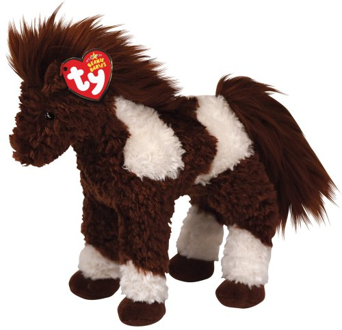 Ty Beanie Babies Thunderbolt - Brown and White Horse (White Horse Farm)