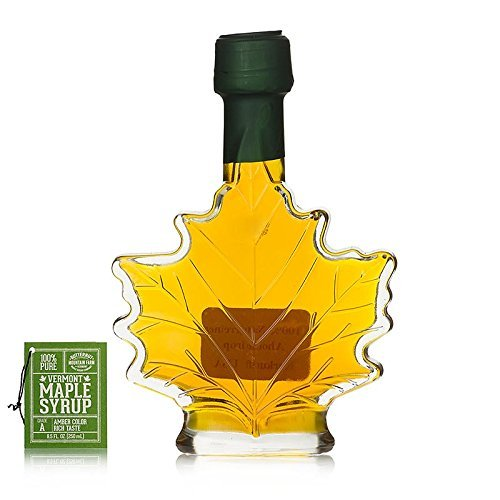 Butternut Mountain Medium Amber Leaf 8.5 Oz Bottle Vermont Maple (Maple Leaf Bottle)