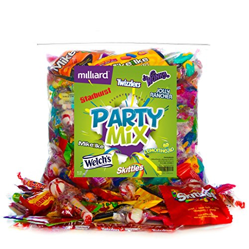 Assorted Classic Candy - Huge Party Mix Bulk bag of: Skittles, Starbursts, Lemonhead, Twizzlers, and more! net weight 4.2 LB/1.9 (Bag Of Candy)