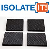 Isolate It: Sorbothane Vibration Isolation Reinforced Heavy Duty Square Pad (2.5