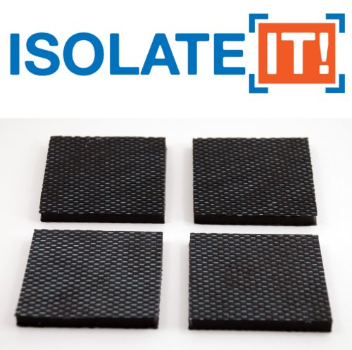 Isolate It: Sorbothane Vibration Isolation Reinforced Heavy Duty Square Pad 50 Duro (2.5'' x 2.5'' x 1/4'' Thick) - 4 Pack by Isolate It! (Image #4)
