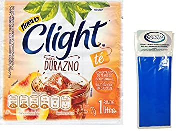 Clight Te con Durazno (Peach Tea) Powdered Drink Mix 1 Liter (Pack of