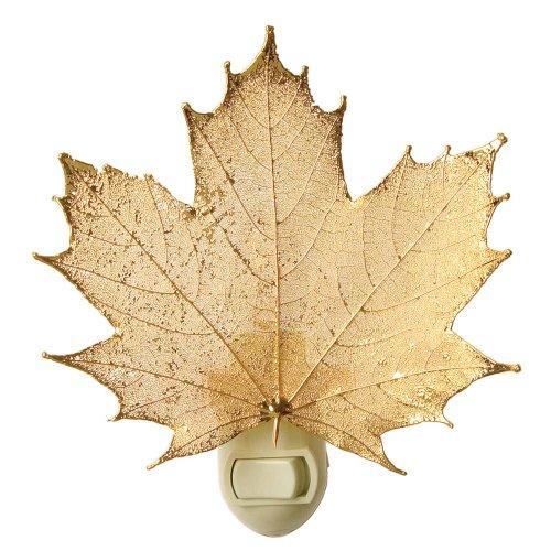 Real Leaf Sugar Maple Night Light, Gold (Light Leaf Maple Night)