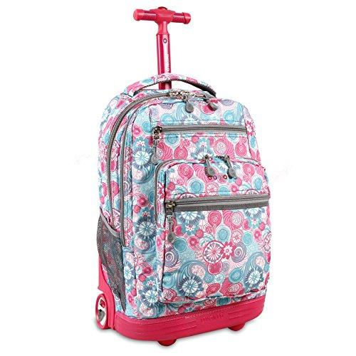 J World New York Sundance Rolling Backpack, Blue Raspberry, One Size ()