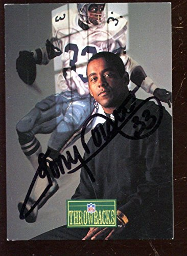 1992 Pro Line Portrait Football Card Tony Dorsett Autographed Hologram - NFL Autographed Football Cards -